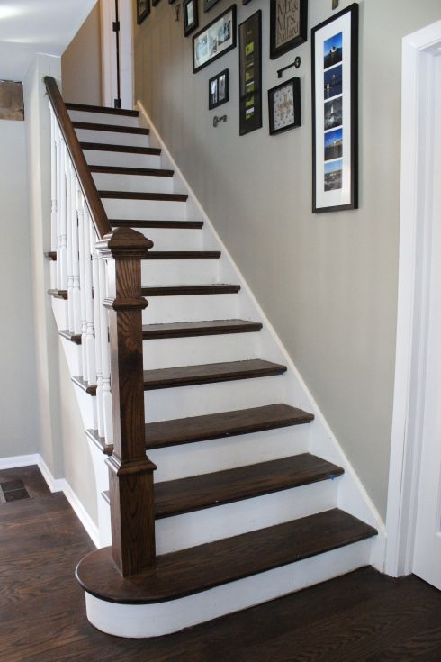 Staircase makeover for Painted stair treads