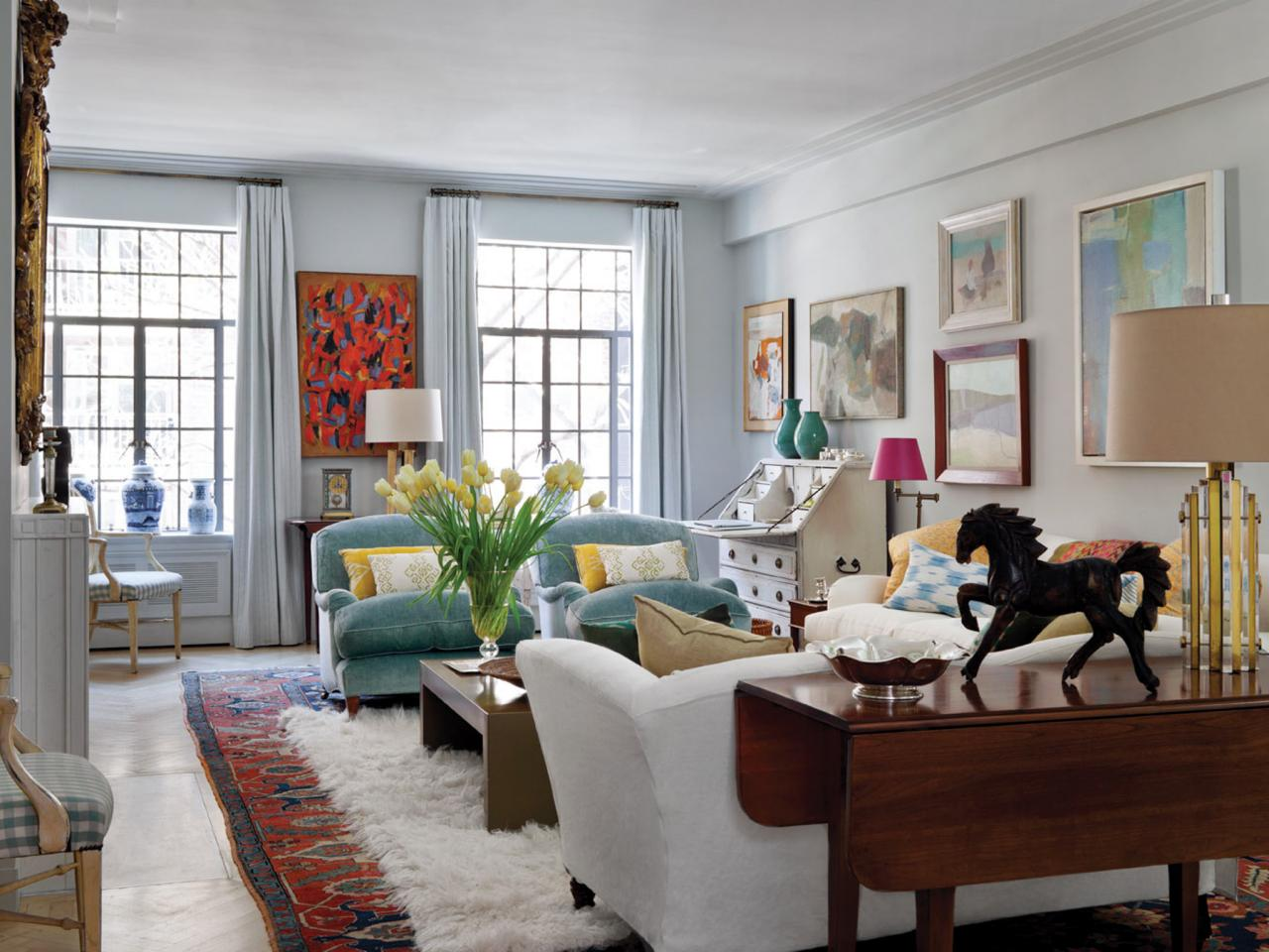 How to decorate a rental for Eclectic living room design