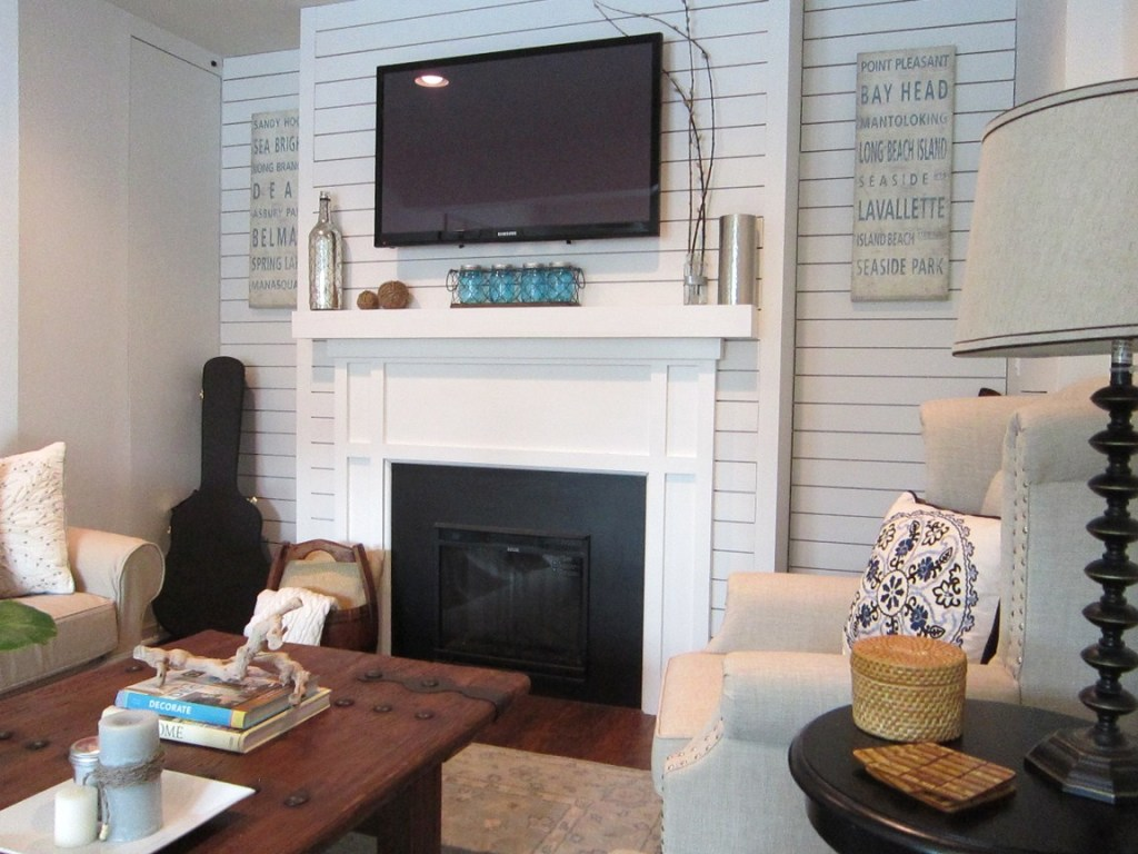 mantel with plankboard
