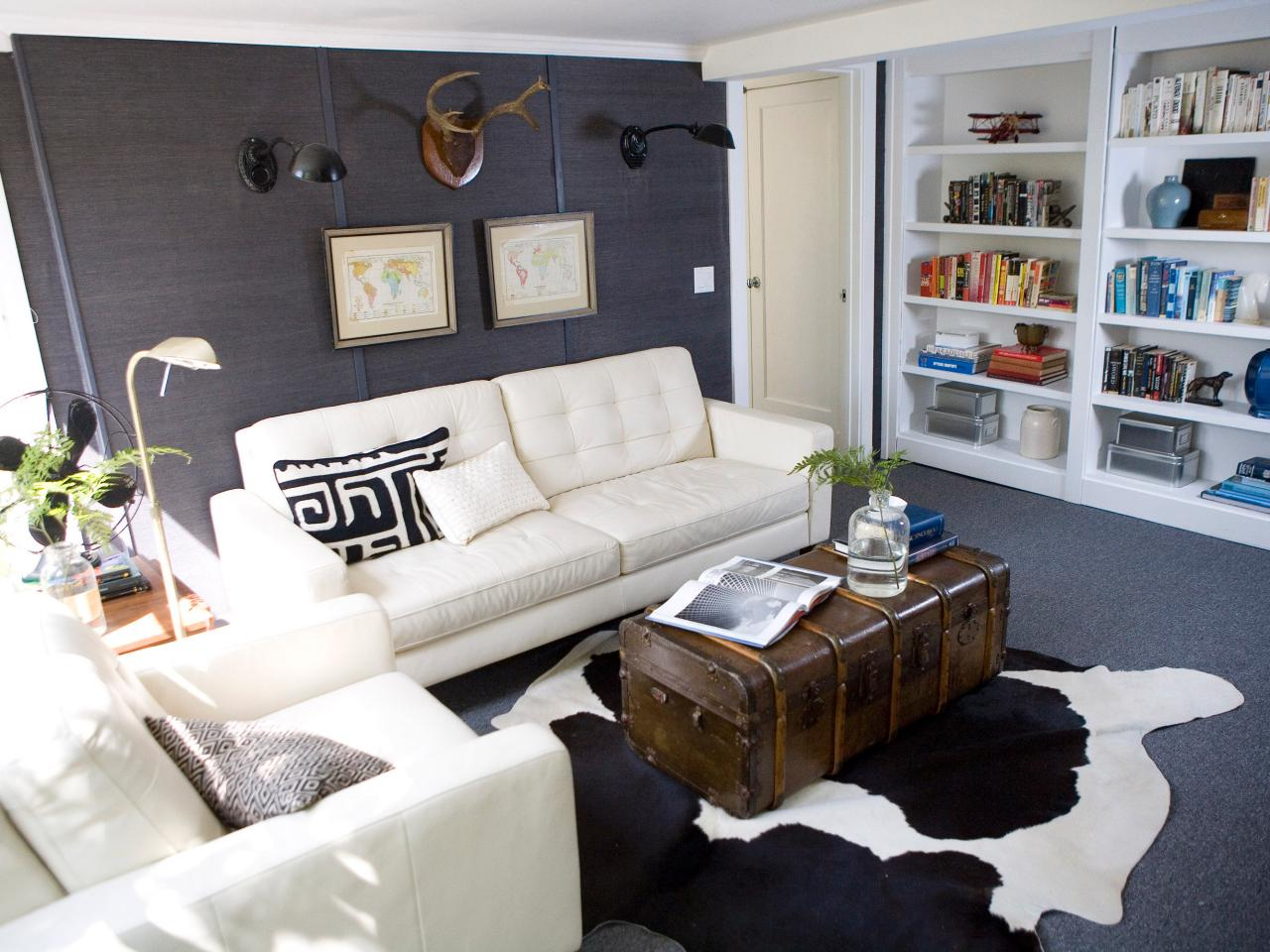 How to decorate a rental - Design small living room space ...