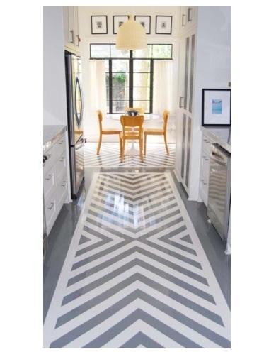 Painted striped floor