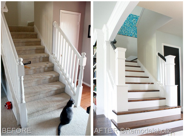 Staircase makeover for Diy staircase makeover