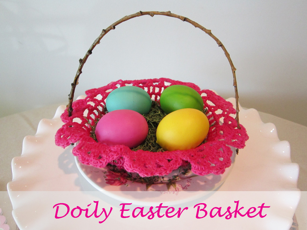 doily basket bowl