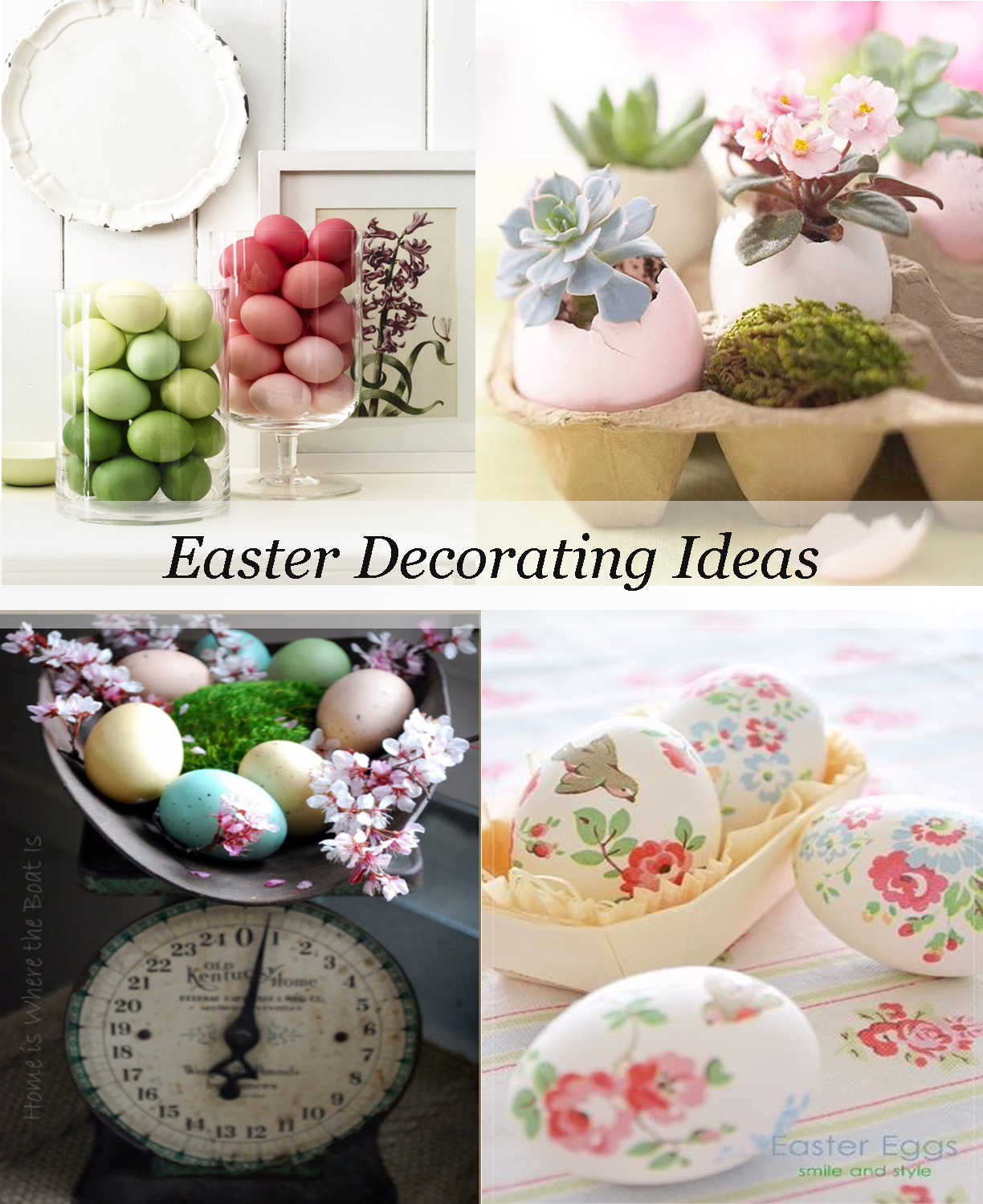 Decorating with easter eggs for Easter decorations ideas for the home