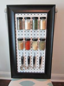 Peg Board Spice Rack