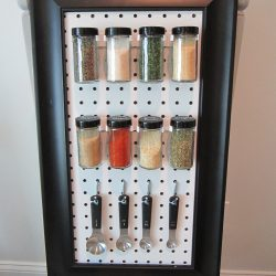 Peg Board Spice Rack