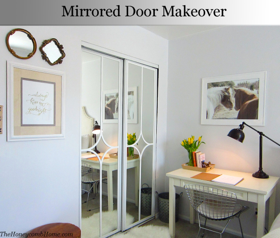 Sliding Mirrored Door Makeover