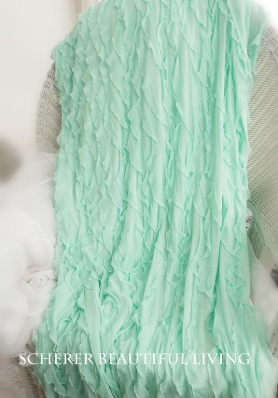 etsy ruffled throw