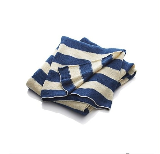 Summer striped throw