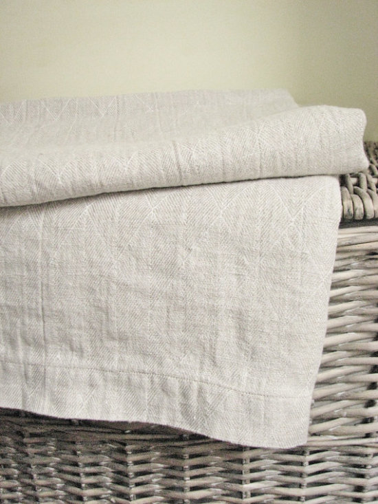 linen throw blanket