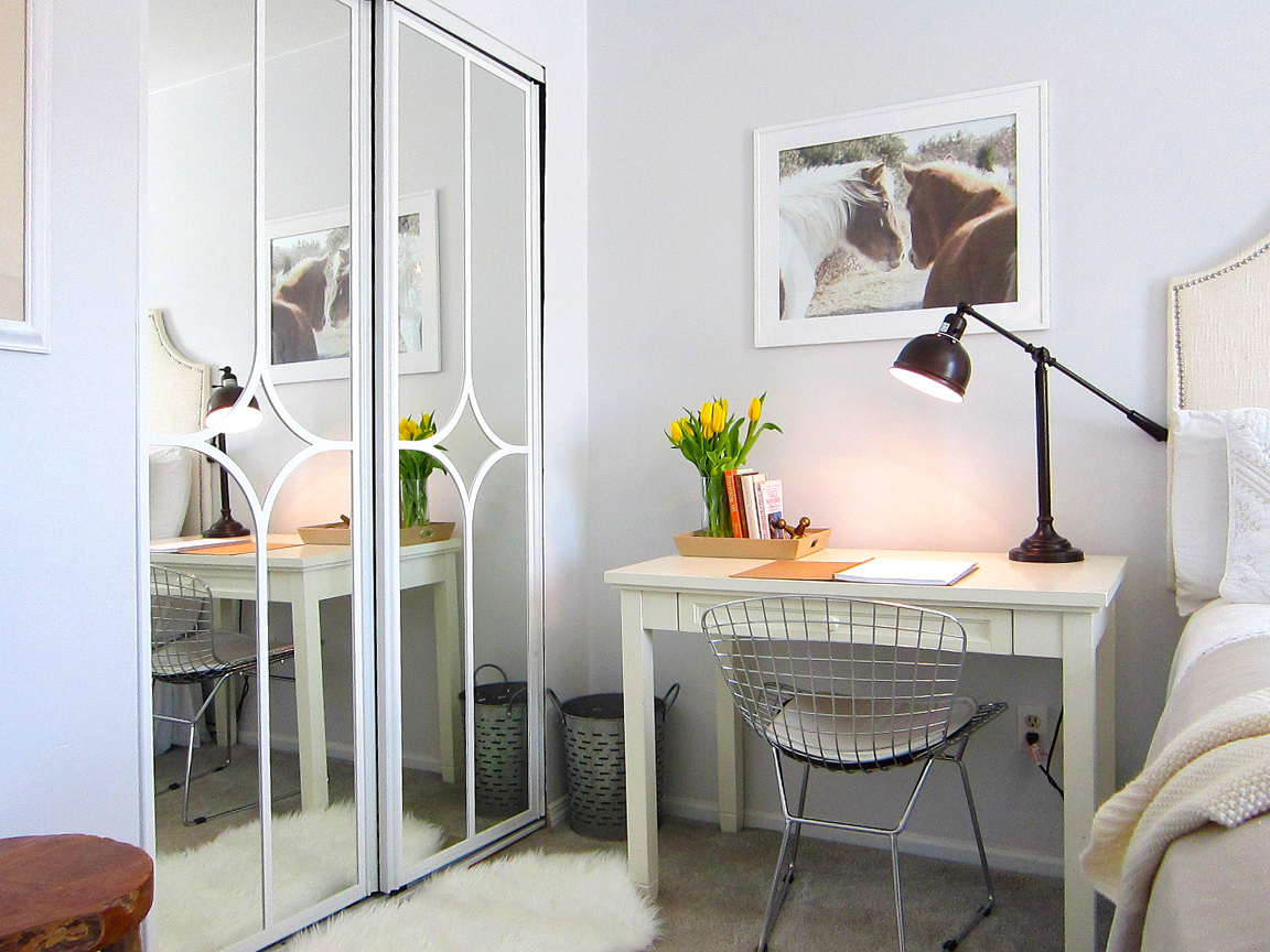 Sliding Mirrored Closet Doors For Bedrooms Mirrored Closet Door Makeover