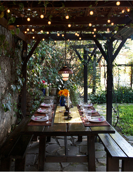 9 ways to decorate with patio lights the honeycomb home