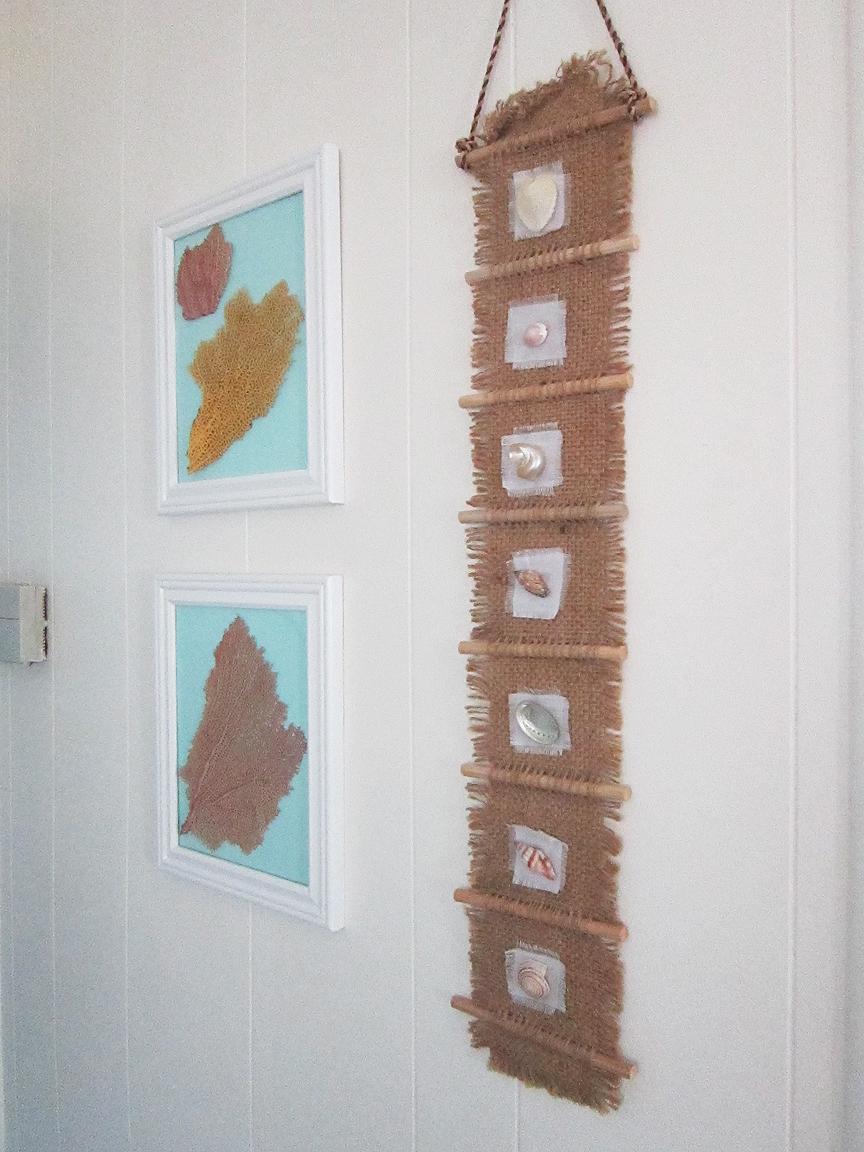 diy nautical wall art the honeycomb home. Black Bedroom Furniture Sets. Home Design Ideas