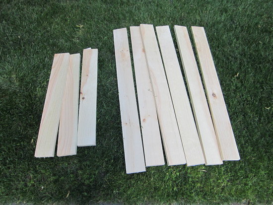 materials for wooden flag