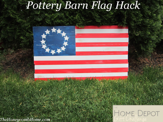 Pottery Barn Wooden Flag Hack