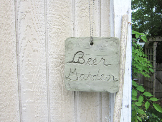 Beer Garden Hanging sign