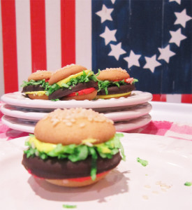 faux Cheeseburger Cookies