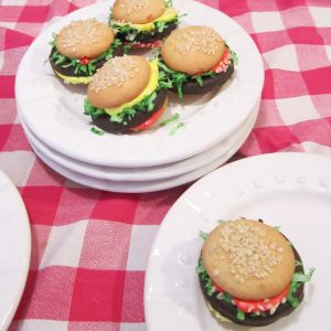 Kids Cheeseburger Cookies