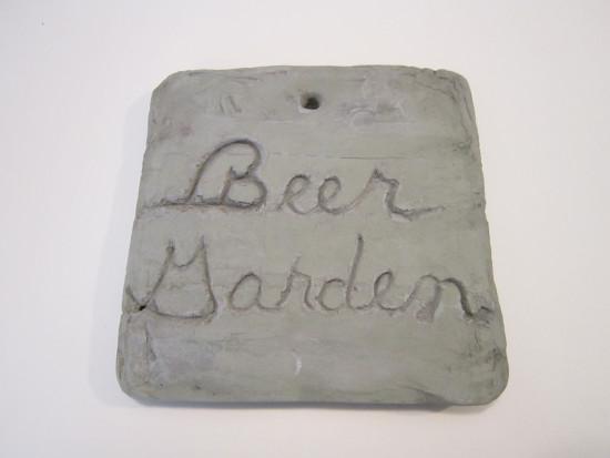 beer garden stone
