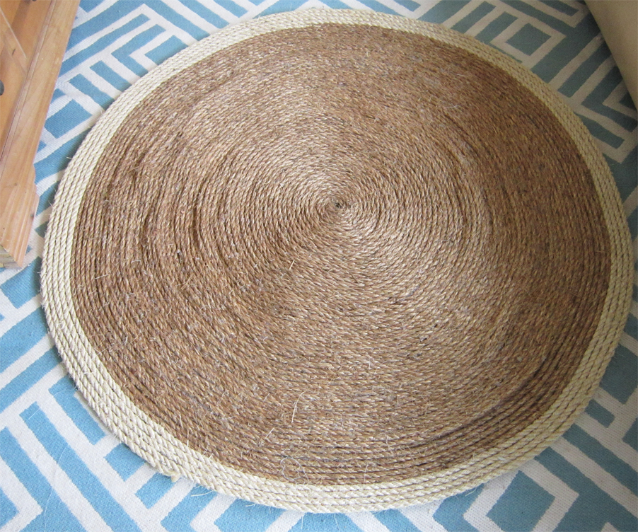 Diy sisal rug for Diy jute
