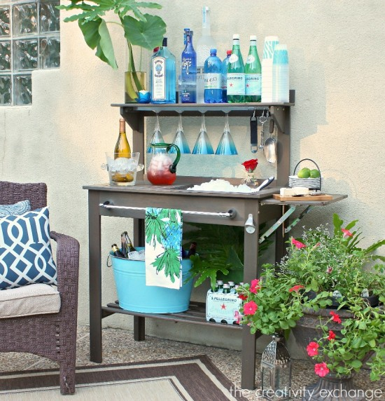 potting table drink station