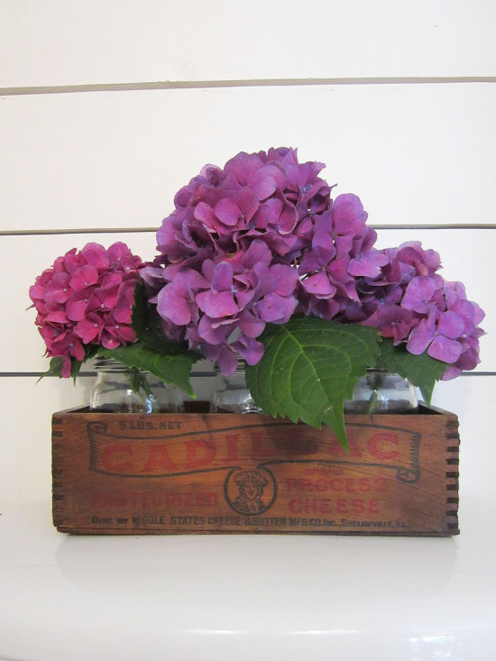 Rustic flower holder