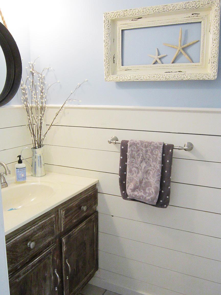 Barnwood Bathroom Diy Barn Wood Cabinets The Honeycomb Home