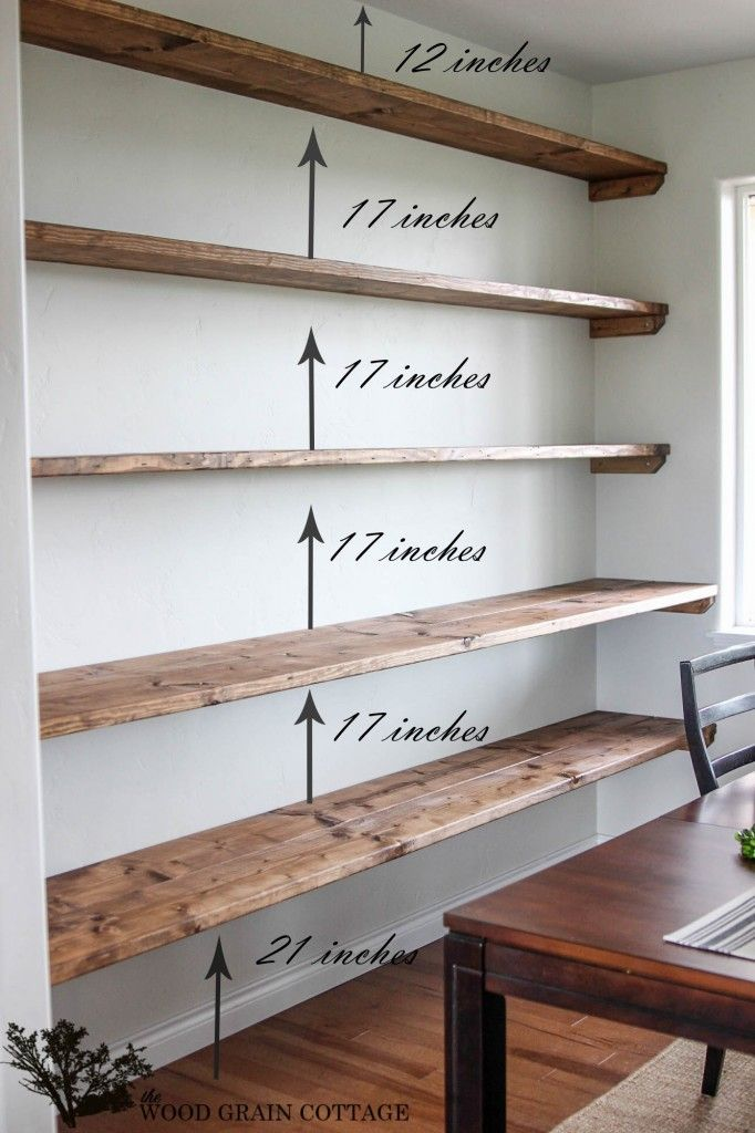 floating wood shelves plans | Quick Woodworking Ideas