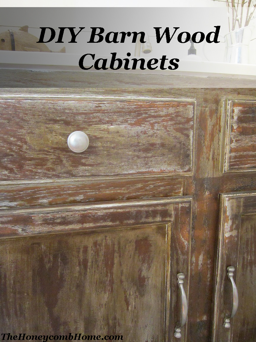 DIY Barn Wood Cabinets -