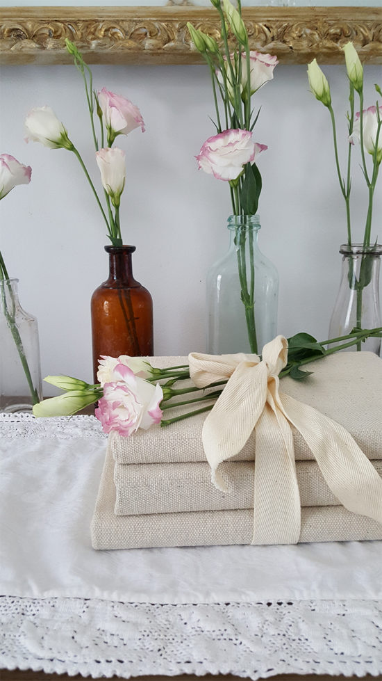 DIY Drop Cloth Book Covers