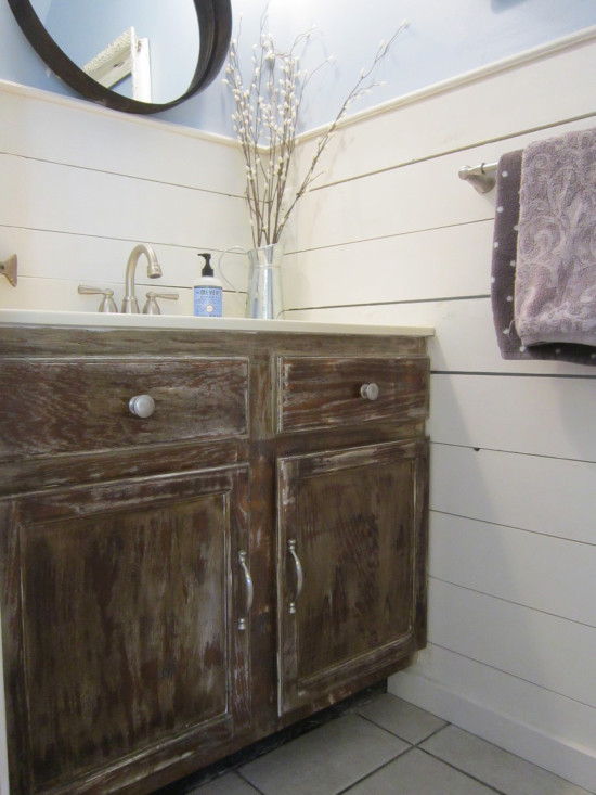 cabinets distressed