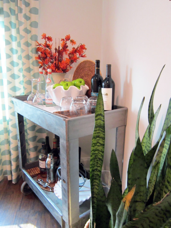 Bar Cart Fall Vignette