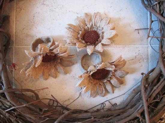 Burlap Sunflowers