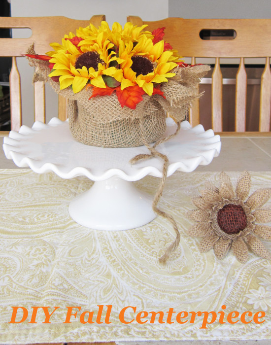 Centerpiece fall DIY