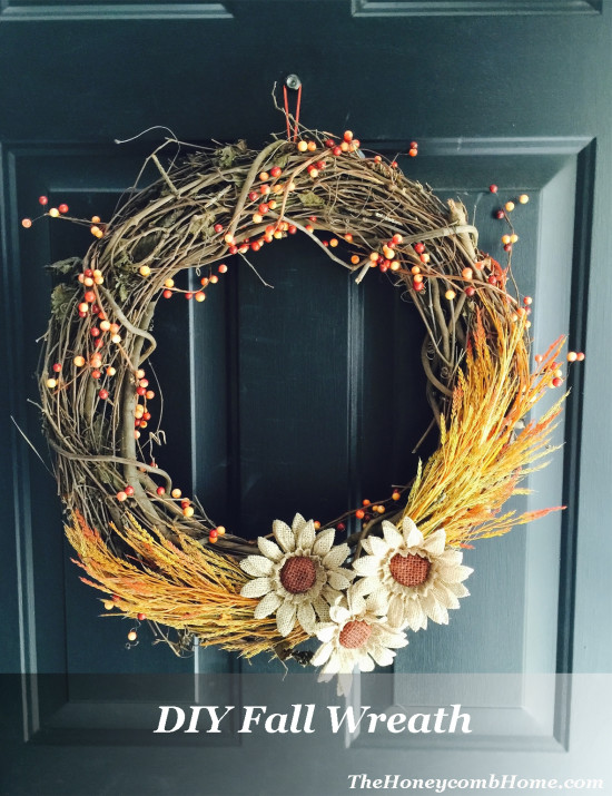 DIY Fall Wreath The Honeycomb Home