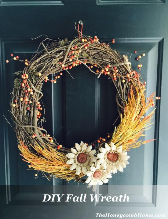 DIY Fall Wreath The Honeycomb Home
