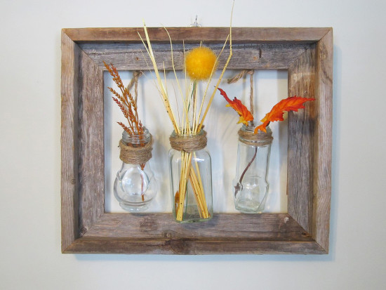 Rustic Frame with Spice Jars