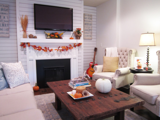 fall decor family room