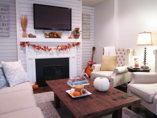 fall decor family room