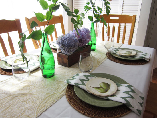fall kitchen table setting