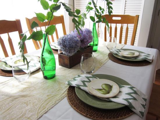 fall kitchen table setting