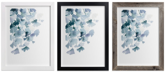 Blue Ginkgo Frames Minted