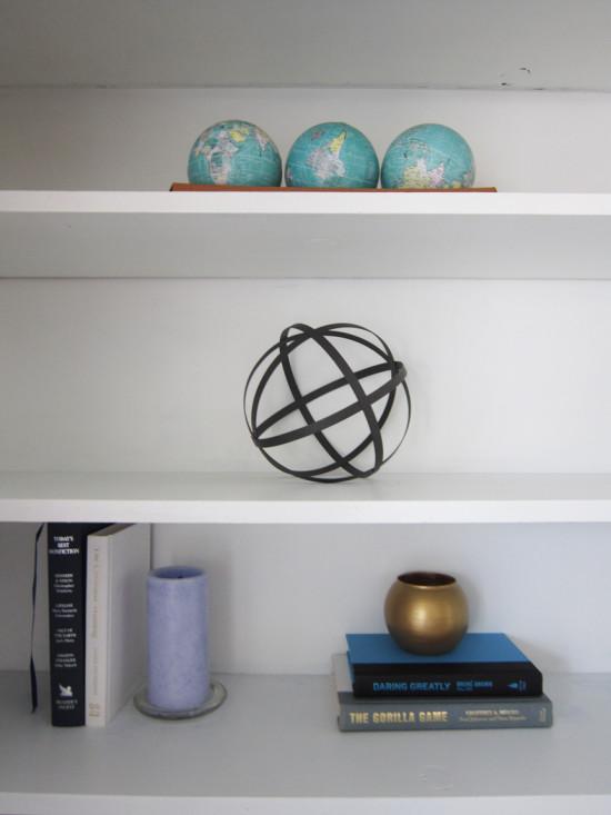 neat book shelves