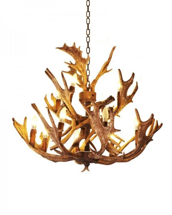 rustic faux antler chandelier