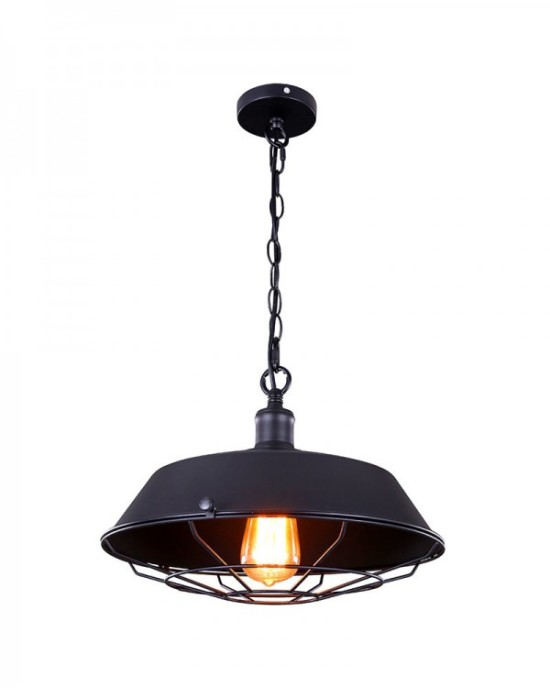 industrial pendant with cage