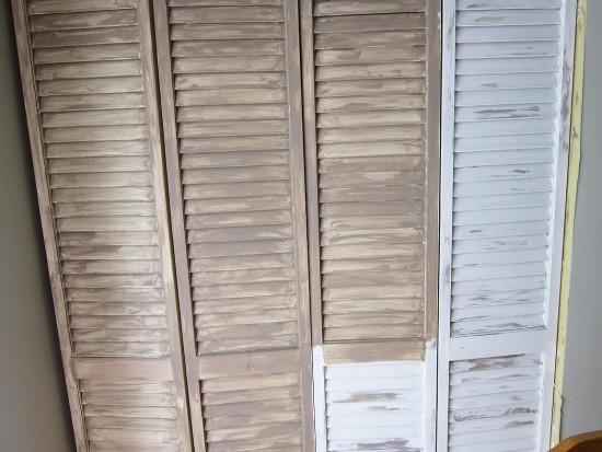 shutter door makeover with chalk paint
