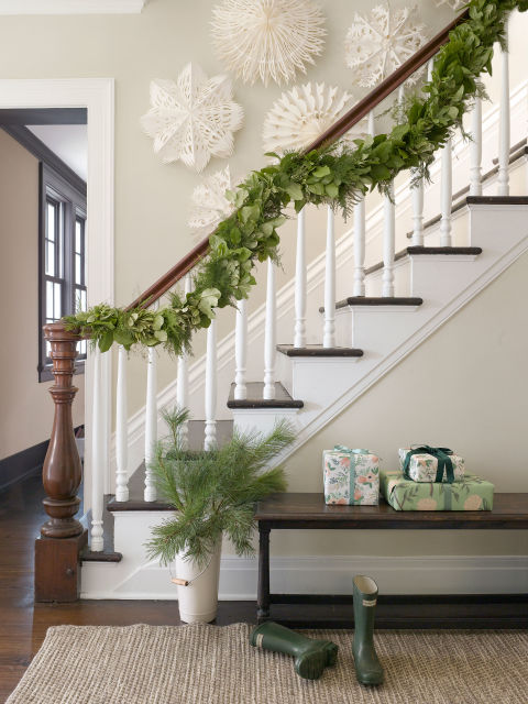 decorating with Christmas garland
