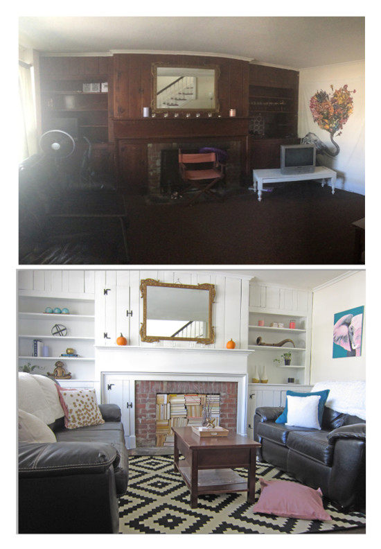 Before and After Room Makeover - theHoneycombHome.com