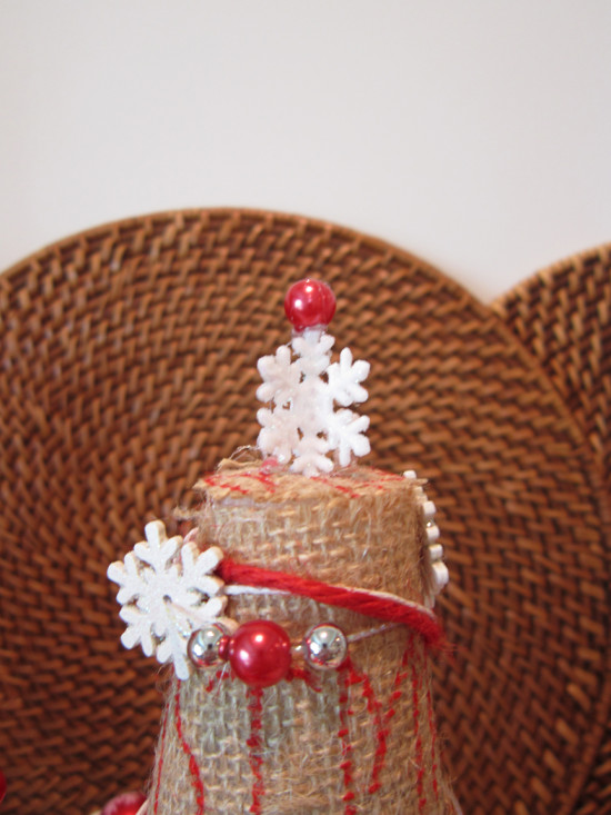Burlap Christmas Tree Toppers