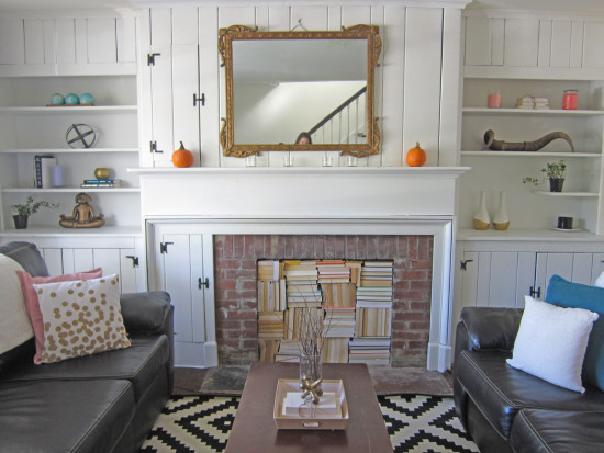 Living Room Makeover With Built Ins After